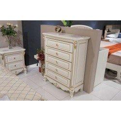 Белый высокий комод в стиле барокко для белья Провен, ТОП мебель
