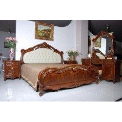 Кровать с мягким изголовьем Каролина, Китай