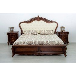 Кровать Эмили с мягким изголовьем из эко-кожи, Топ мебель