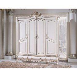 Белый четырехдверный шкаф Провен, Китай