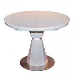 Белый круглый стол Раунд на резной ноге