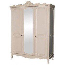 Трехдверный светлый шкаф Анабель в стиле классика, Топ мебель
