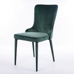 Зеленый дизайнерский стул Лондон из велюра