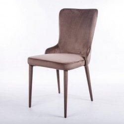 Бежевый велюровый стульчик Лондон