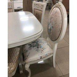 Белый классичнеский стул с круглой спинкой С 12, Китай