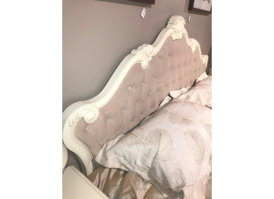Кровать с мягким тканевым изголовьем Анабель, ТОП АРТ