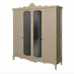 Белый резной шкаф для одежды Анабель, Топ мебель