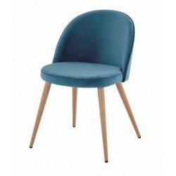 Мягкий стул Паркер в цвете лазурь ( цвет морской волны)