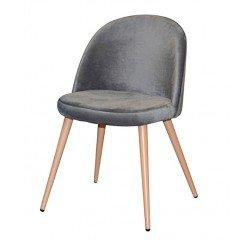 Серый велюровый стул Паркер, Топ мебель