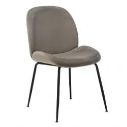 Мягкий обеденный стул в цвете пепел М-32