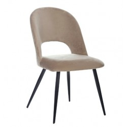 Бежевый велюровый стул М-33 для гостиной