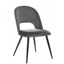 Велюровый пепельный стул М-33 в стиле модерн
