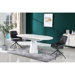 Белый стол TML-800 со столешницей под мрамор