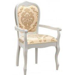 Белый стул с подлокотником Принц