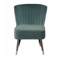 Зеленое велюровое кресло для отдыха Рейн