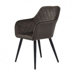 Серо-коричневый обеденный стул Антиба