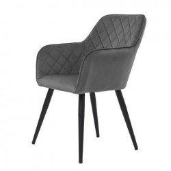 Мягкий глубокий стул Антиба серого цвета