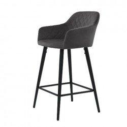 Высокий барный стул Антиба в сером цвете