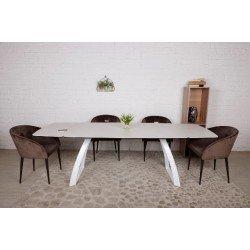 Белый стол обеденный Калнари (CALGARY) в стиле модерн