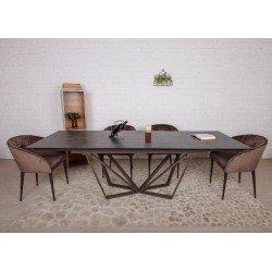 Коричневый керамический стол обеденный  Нотингем (NOTTINGHAM)