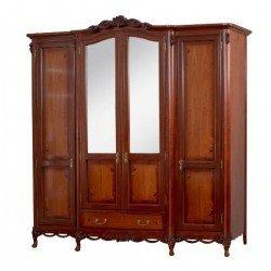 Четырехдверный румынский шкаф из массива Амира, Симекс