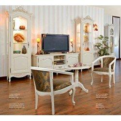Белые румынские витрины в гостиную Магадор