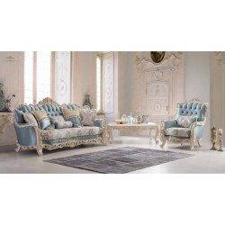 Голубой классический диван Император, Турция FER