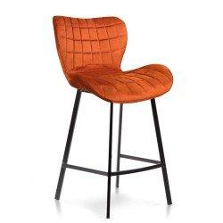 Высокий барный стул В-22 в оранжевом цвете