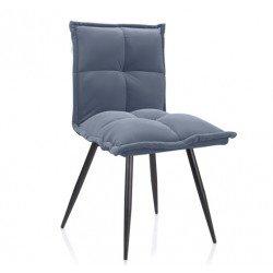 Серый стильный стул N-130 из матового велюра