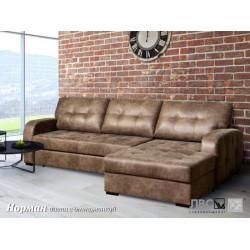 Раскладной угловой диван с нишей для белья Норман