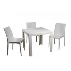 Белый пластиковый обеденный стол на улицу OW-T209S  SPRING II