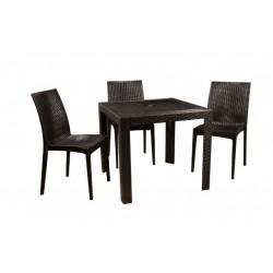 Черный пластиковый квадратный стол OW-T209S  SPRING II