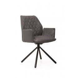 Поворотный нубуковый стул М-34