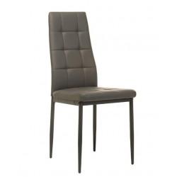 Серый стильный стул из эко-кожи Нортон N-66-2