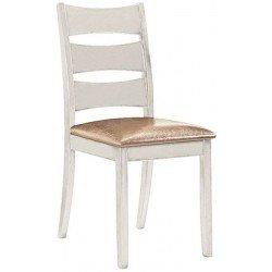 Белый классический кухонный стул Белла из натурального дерева