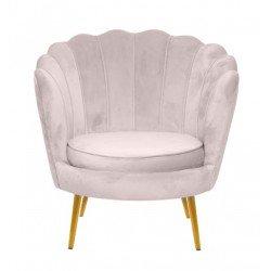 Декоративное бежевое кресло Шелл