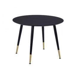 Круглый обеденный стол TM-99 черного цвета