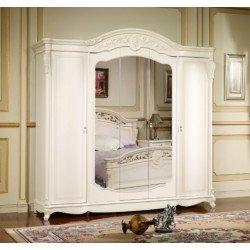Белый пятидверный шкаф Беатриче, Китай