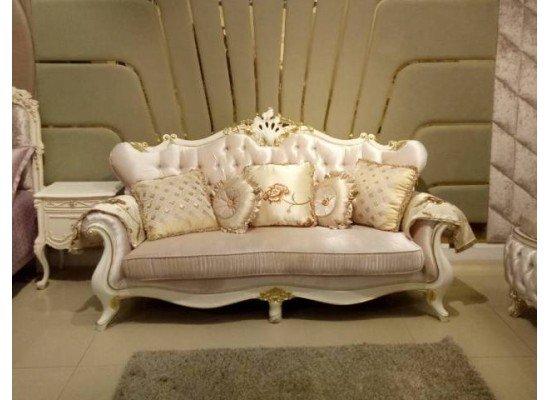 Мягкий белый диван с креслами Людовик, Энигма,  Малайзия