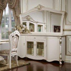 Белый буфет с зеркалом в гостиную Беатриче 6017, Китай
