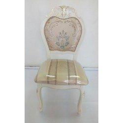 Белый классический стул 8042 в патиной шампань, Даминг