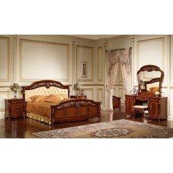 Ореховая кровать с мягким изголовьем Беатриче, Китай