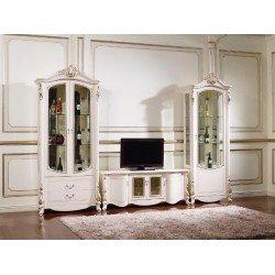 Белая стенка для ТВ в гостиную Беатриче 6017, Китай
