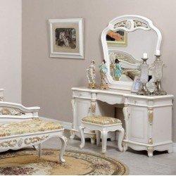 Белый туалетный стол с зеркалом Беатриче