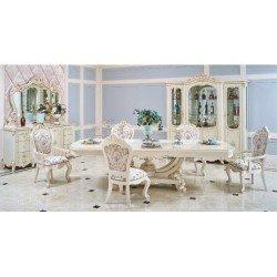 Белый обеденный стол с золотой патиной 8308 Венеция, Китай