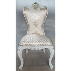 Белый стул 1631 в бежевой ткани, Даминг