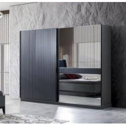 Серый шкаф-купе в стиле модерн Стамбул