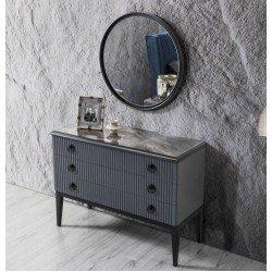 Широкий комод с зеркалом в спальню Стамбул