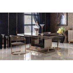 Бежевый стол с золотой отделкой Шоколад (CHOCOLATE)