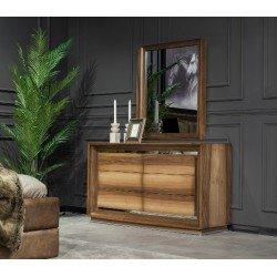 Прямоугольный комод из натурального дерева в спальню Генова